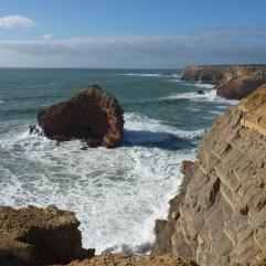 Amado_Beach_strand met uitzicht vanaf de rotsen portugal