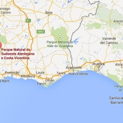 Kaart - costa vicentina portugal algarve vakantie