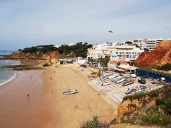 Olhos-d´Agua-vakantie Algarve Portugal 1