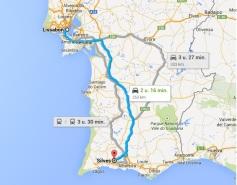 route silves lissabon - vakantie portugal