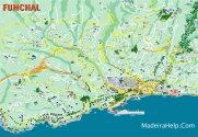 Funchal-kaart - vakantie madeira