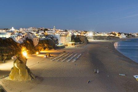 albufeira regio stranden nacht