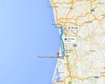route praia do furadouro - porto vakantie portugal