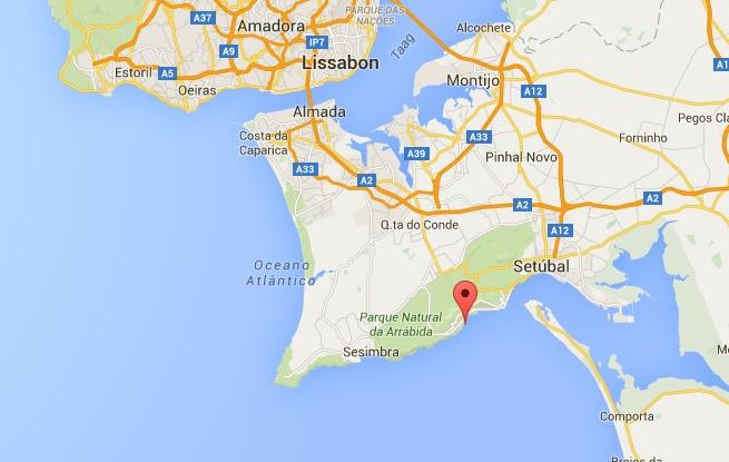 Portinho-da-Arrábida-vakantie strand vlakbij Lissabon 2 kaart