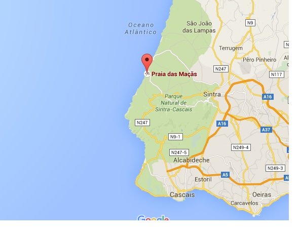 praia das macas portugal strand vlakbij Sintra