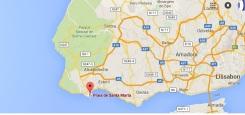 praia santa marta cascais portugal kaart
