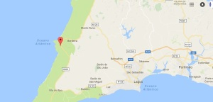 carrapateira kaart portugal