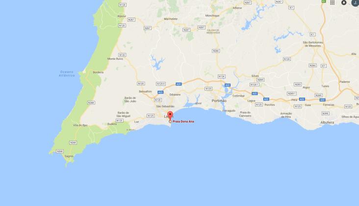 Praia Dona Ana- lagos vakantie strand Algarve Portugal vakantie 1