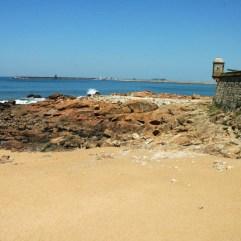 Praia Castelo do Queijo super mooi strand vlakbij Porto, Noord- Portugal vakantie 001