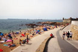 Praia Castelo do Queijo super mooi strand vlakbij Porto, Noord- Portugal vakantie 002
