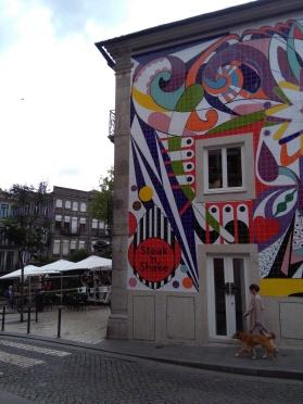 muurschildering mozaiek