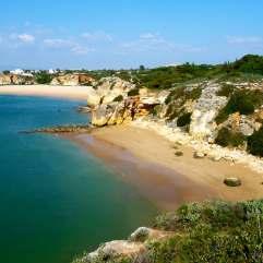 praia da infanta vlakbij Ferragudo, ideaal om te snorkelen of te duiken 001