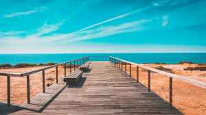strand trap portugal vakantie
