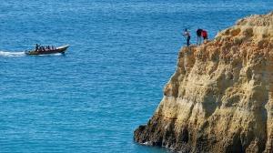 vissers vissen bij carvoeiro - vakantie portugal